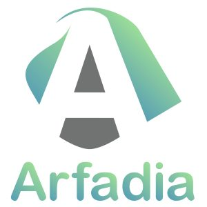 Logo Arfadia new gradient background white wo tagline.jpg